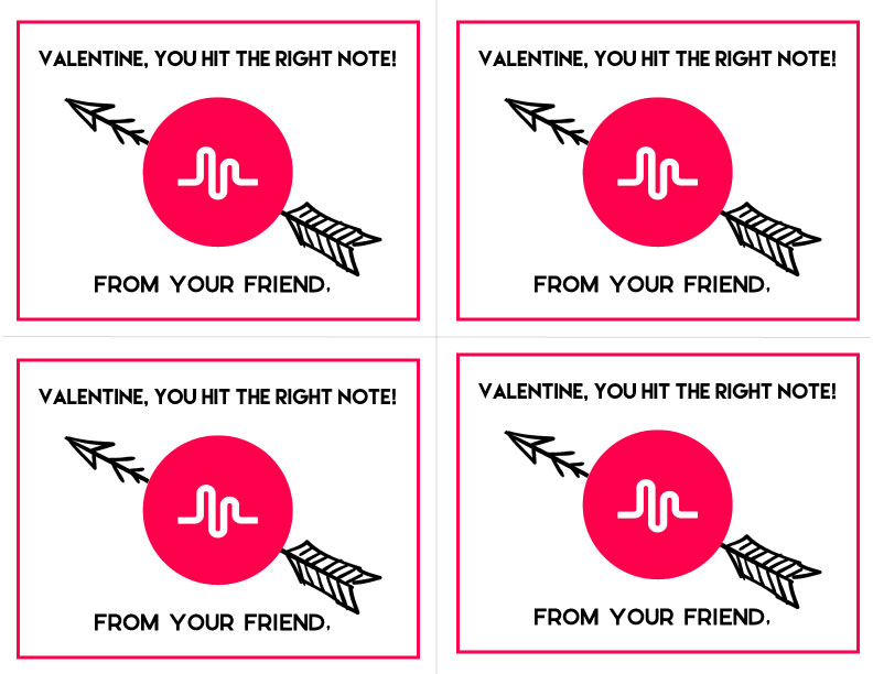 Musically Valentine's Day Printable from www.thirtyhandmadedays.com