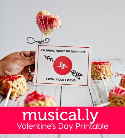 Holiday and party: Musical.ly Valentine's Day Printable -- your tweens and teens will love this one! www.thirtyhandmadedays.com