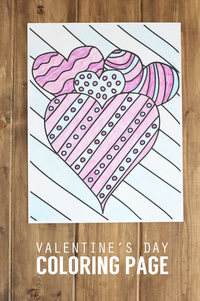 photo about Printable Valentine Day Coloring Pages identified as Valentines Working day Coloring Website page