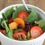 Delicious (and healthy) Strawberry Spinach Salad