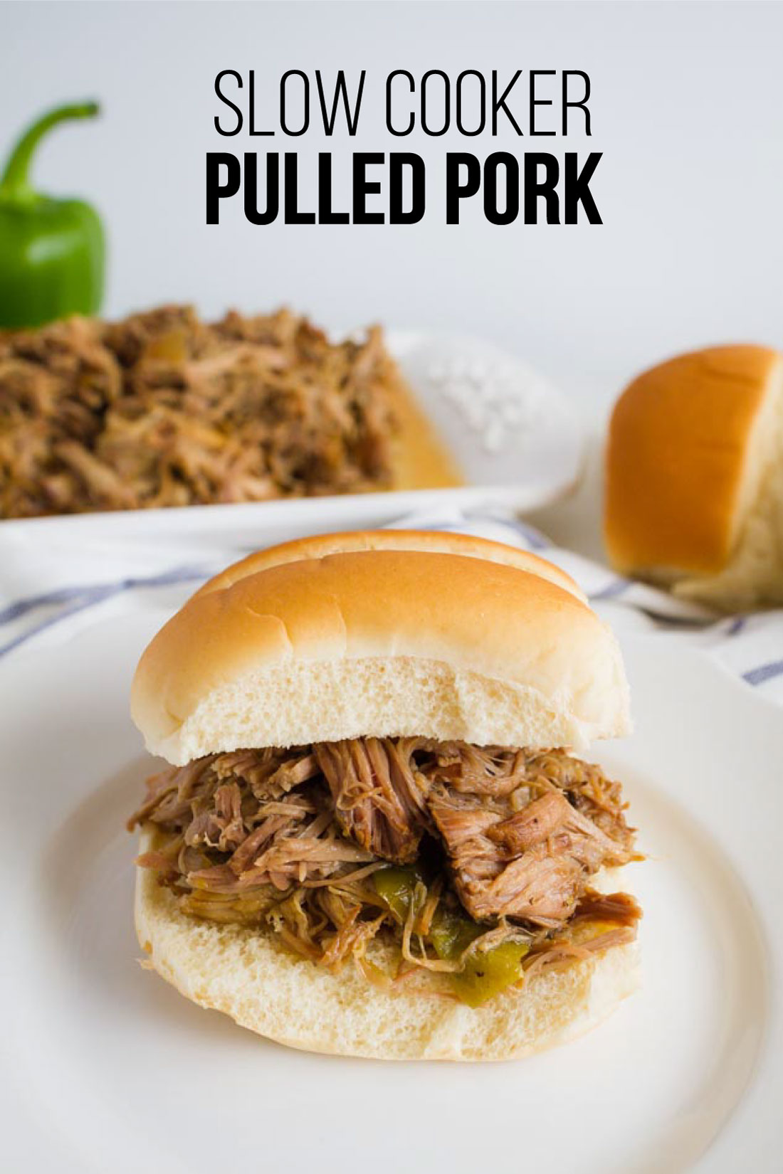 Food: Slow Cooker Pulled Pork - make this super easy dinner recipe and use it in a variety of ways!