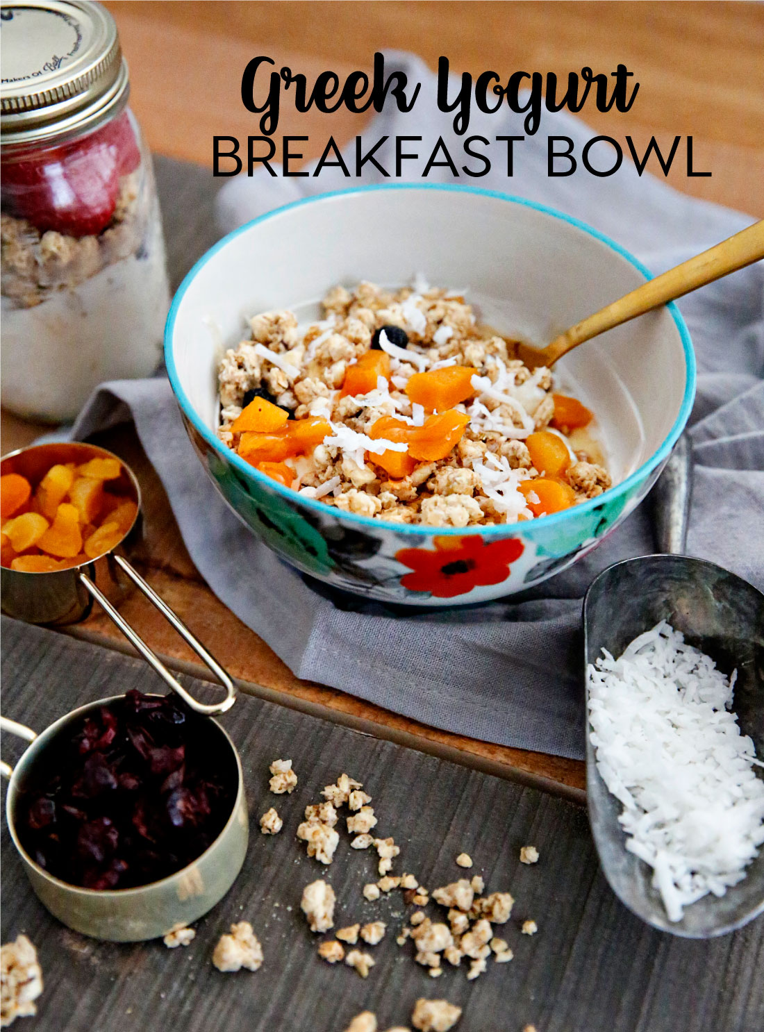 Food: Greek Yogurt Bowl for Breakfast - the perfect way to start your day! from www.thirtyhandmadedays.com