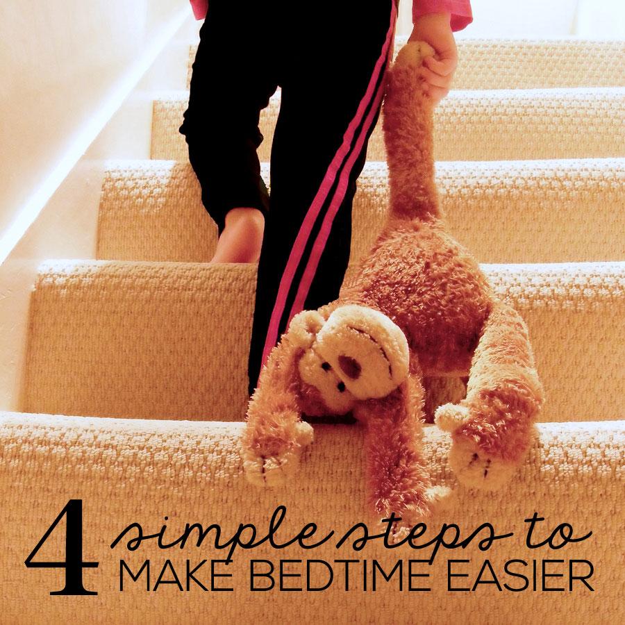 Parenting: 4 Simple Steps to Make Bedtime Easier from www.thirtyhandmadedays.com