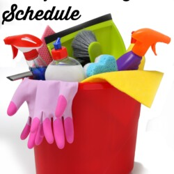 Simple 15 Minute a Day Cleaning Schedule