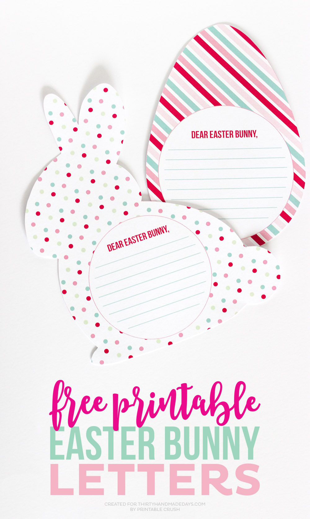 Free Printable Easter Bunny Letters - Thirty Handmade Days