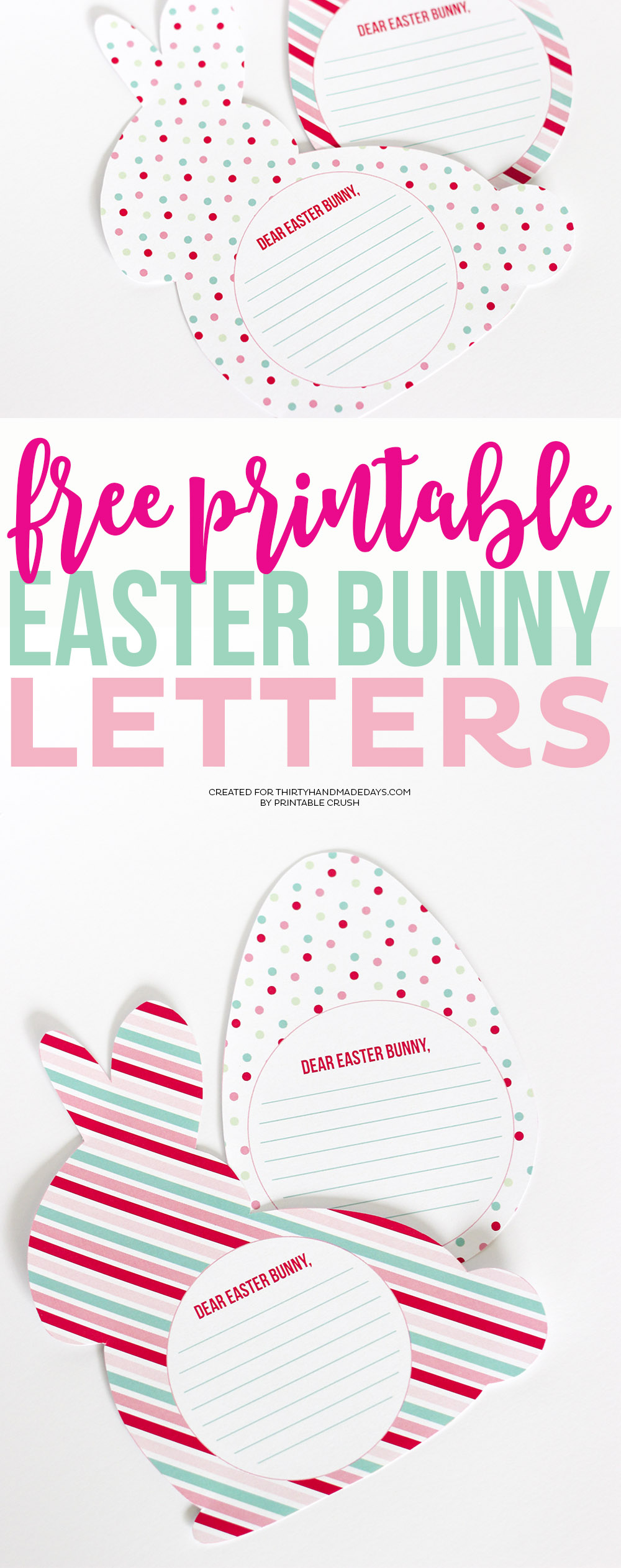 photograph relating to Letter From Easter Bunny Printable called Totally free Printable Easter Bunny Letters - 30 Do-it-yourself Times