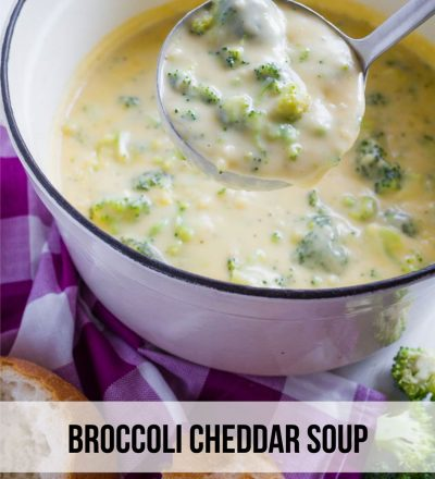 Food: Broccoli Cheddar Soup - a delicious recipe to try out that will warm you right up! www.thirtyhandmadedays.com