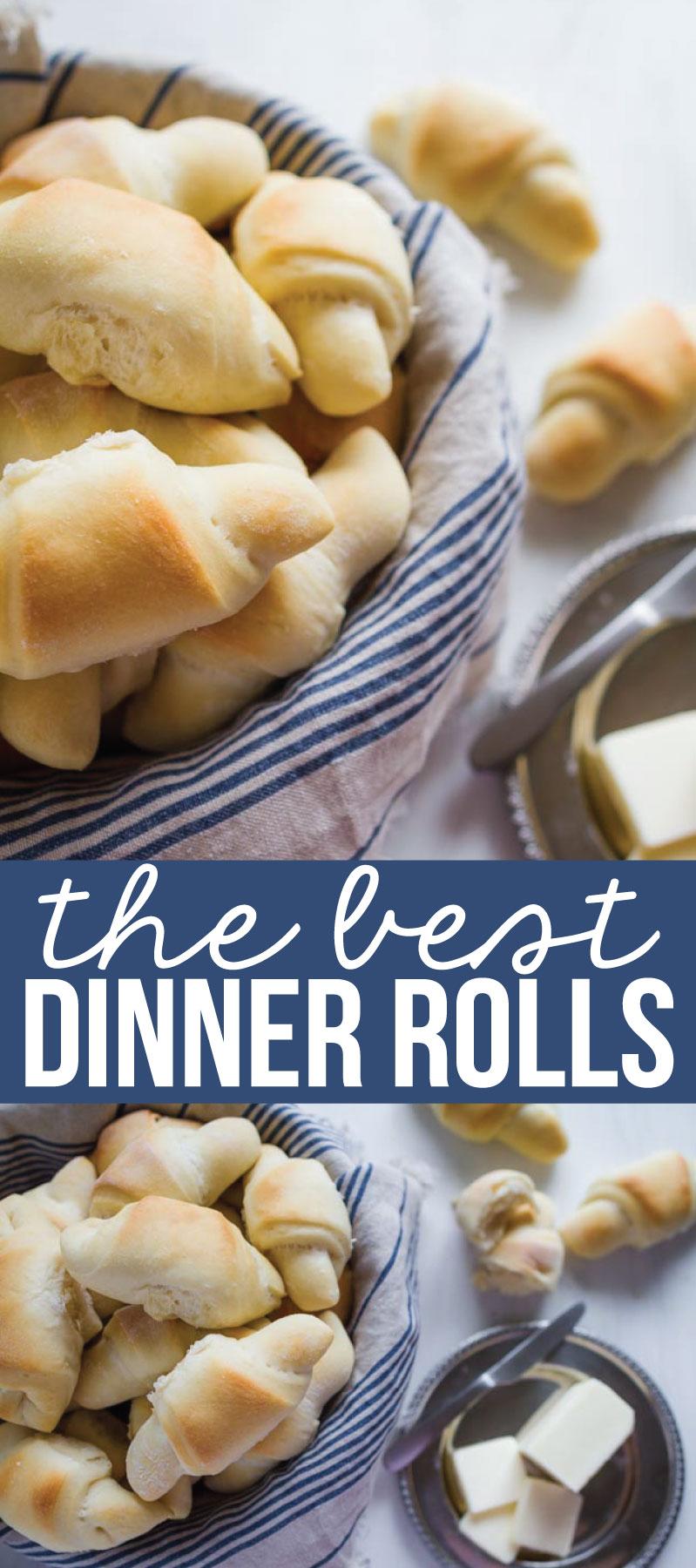 Food: The best dinner rolls - tasty, buttery, soft dinner rolls that will melt in your mouth. via www.thirtyhandmadedays.com