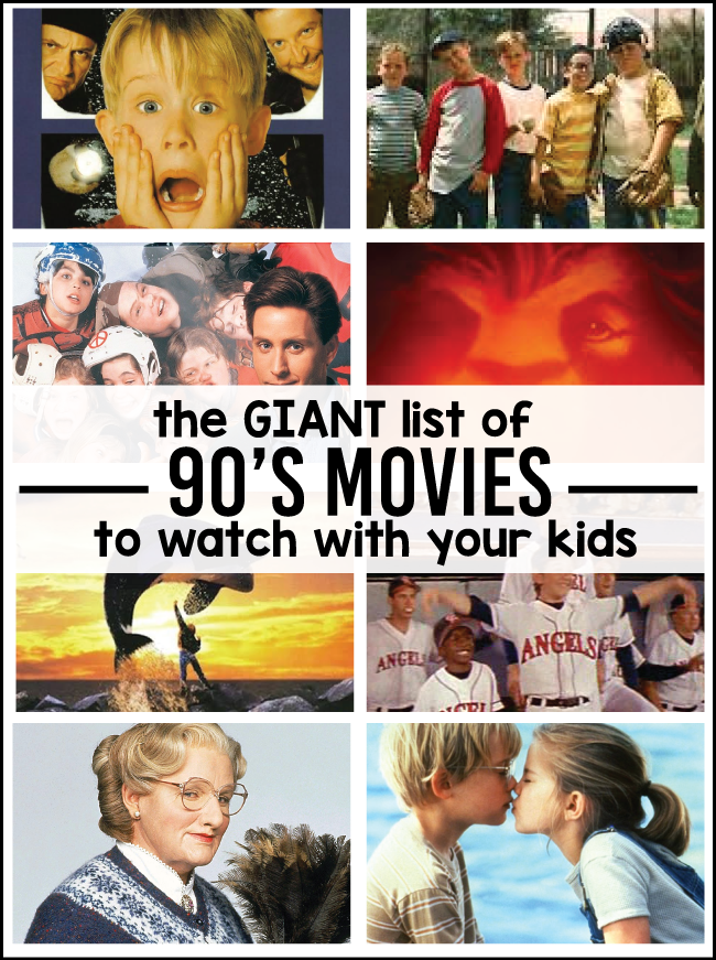 The giant list of 90's movies you have to watch with your kids- via www.thirtyhandmadedays.com