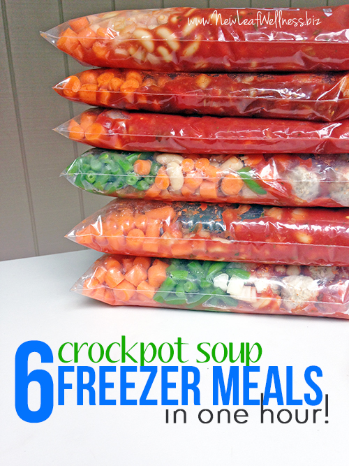 6 Crockpot Soup Freezer Meals in One Hour