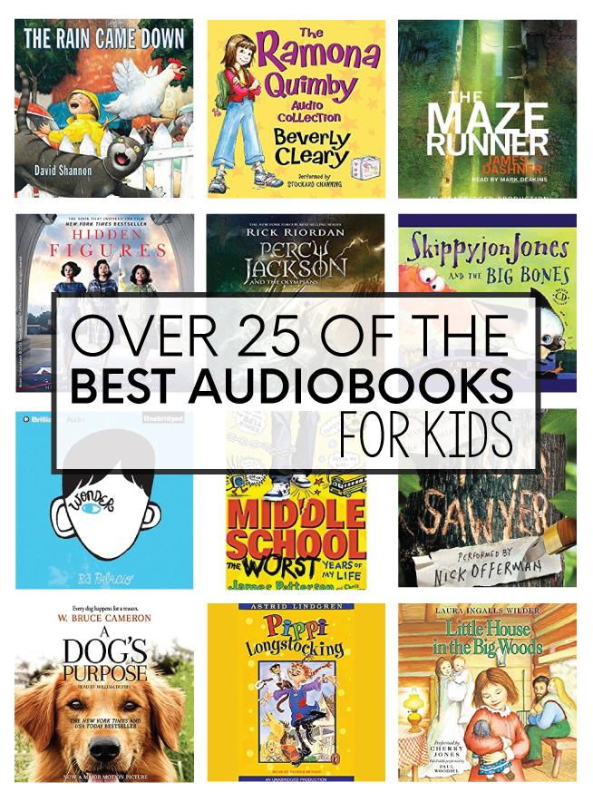 Over 25 of the best audiobooks for kids!