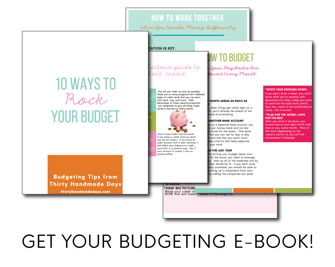 Budgeting E-book from www.thirtyhandmadedays.com