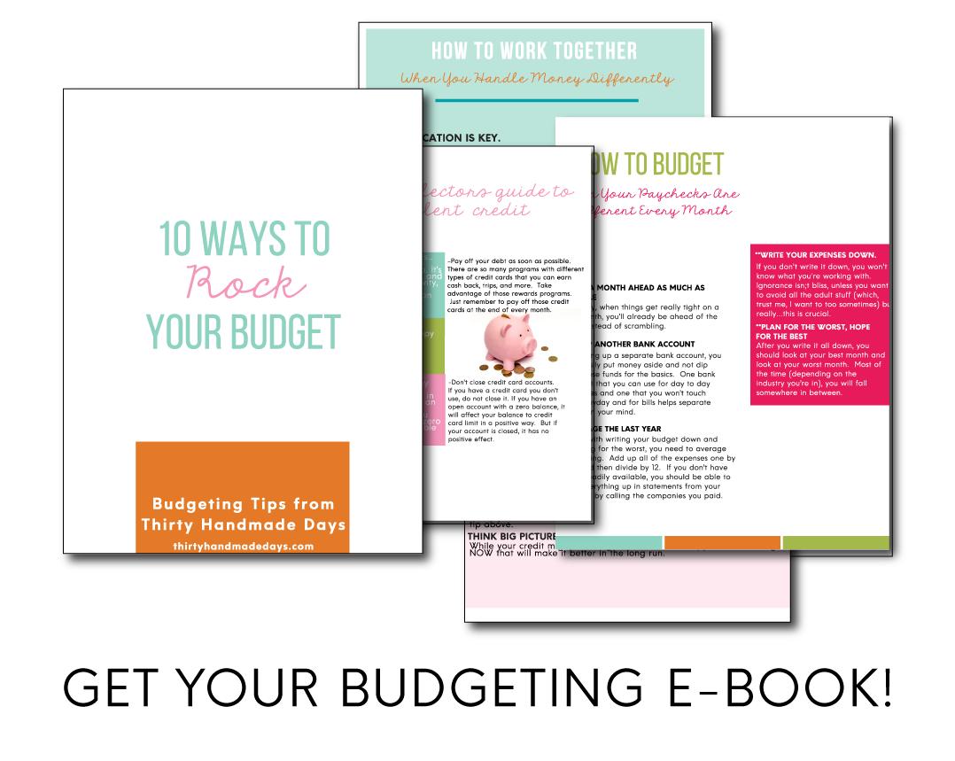 Budgeting E-book from www.thirtyhandmadedays.com