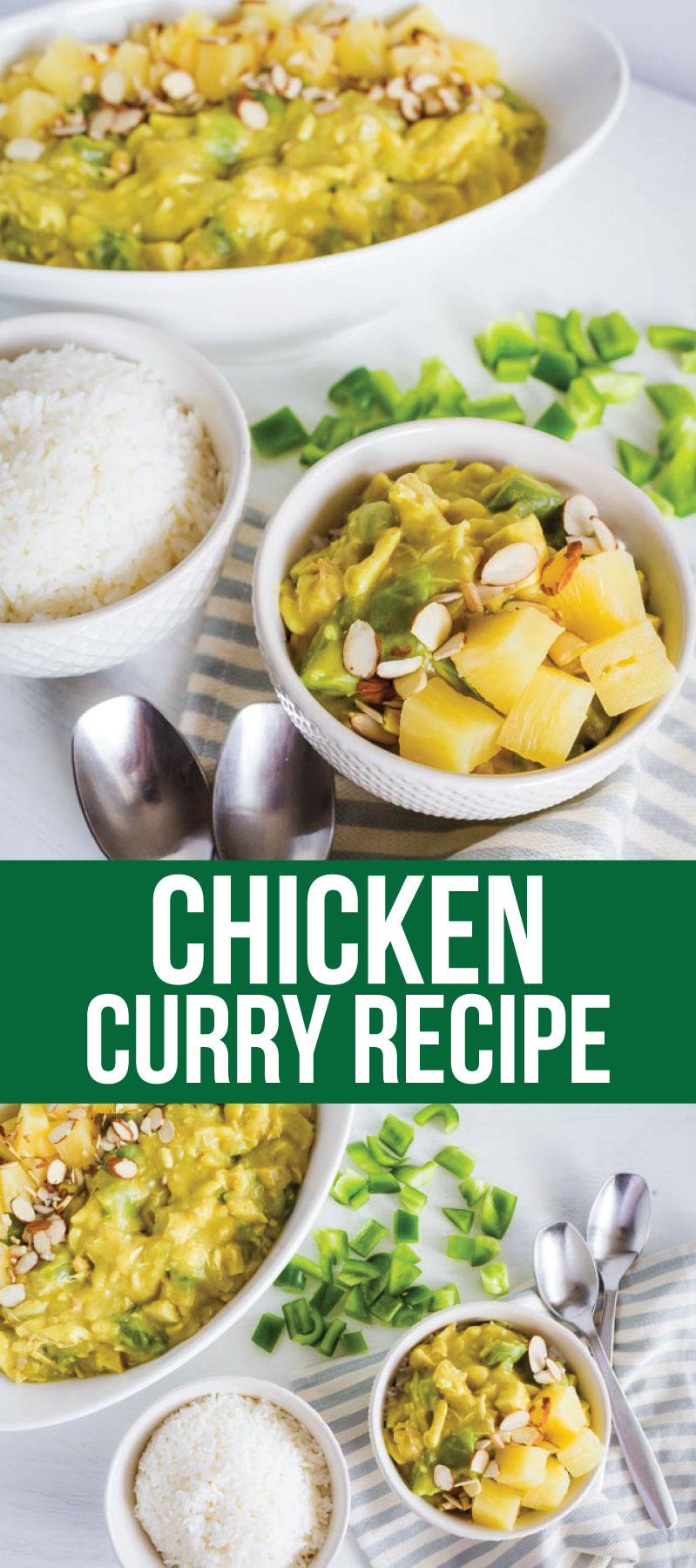 Chicken Curry Recipe - an easy to make family favorite main dish! www.thirtyhandmadedays.com