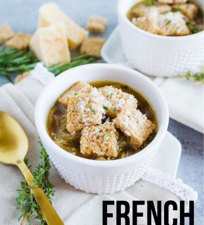 Lightened Up French Onion Soup - a delicious take on an old classic
