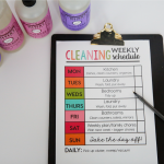 Printable Weekly Cleaning Schedule with Mrs. Meyer's