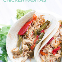 Easy and Healthy Slow Cooker Chicken Fajitas