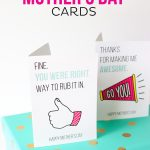 If your mom has a sense of humor, she'll love these FREE Printable Funny Mother's Day Cards! There are four different card designs to choose from!