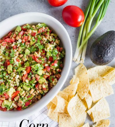 Food: Corn Salsa, an easy appetizer that tastes amazing! from thirtyhandmadedays.com