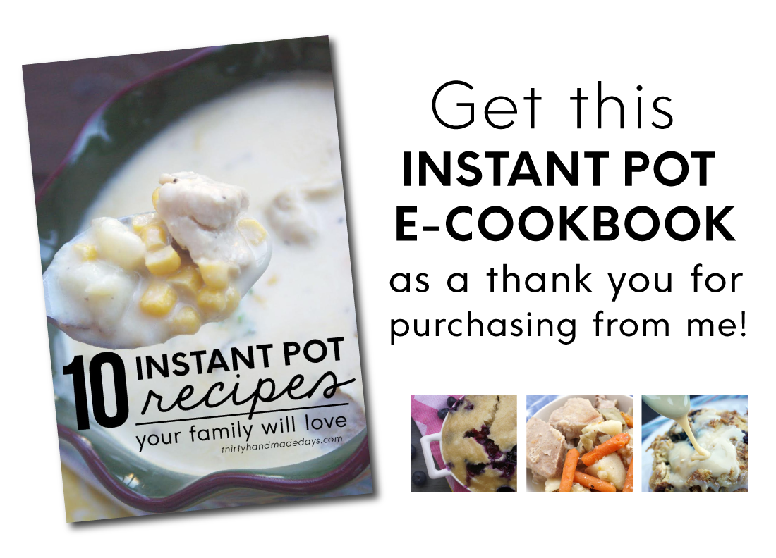 Get my new Instant Pot E-cookbook, not available anywhere else!