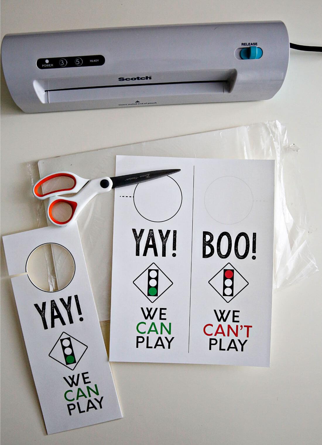 Printable Kids Door Hanger- supplies you need to put it together!