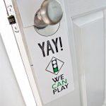 Printable Kids Play Door Hanger