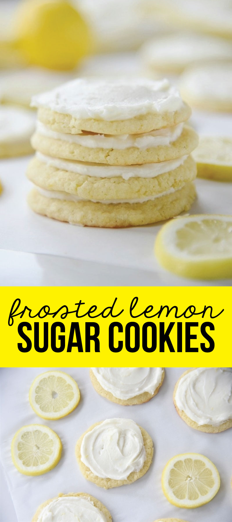 Frosted Lemon Sugar Cookies - these are amazing!