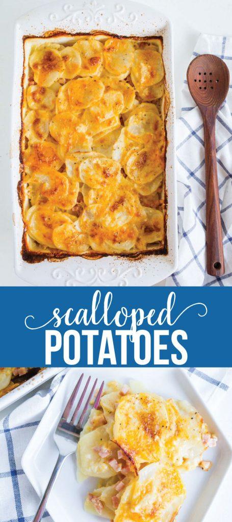 The best Scalloped Potatoes ever- made by mom www.thirtyhandmadedays.com