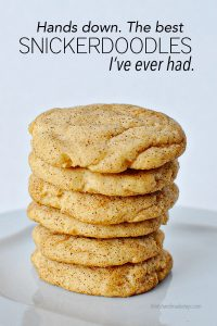 The very best Snickerdoodle Cookies I've ever had - soft in the middle and crispy around the edges. They are perfection. www.thirtyhandmadedays.com