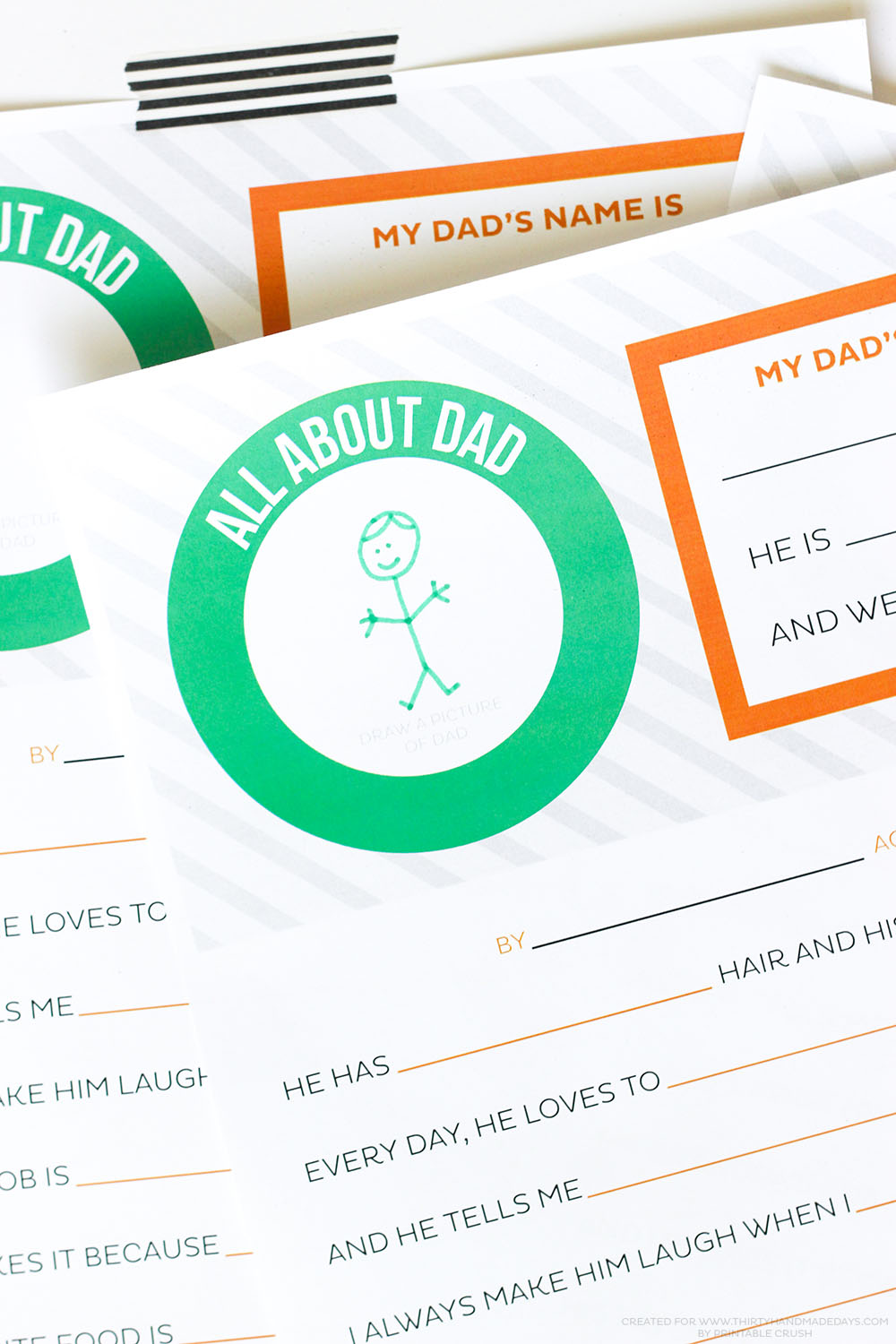Give Dad or Grandpa a good laugh with a FREE Printable Father's Day Questionnaire! The kids will love filling it out and dad will love reading it.