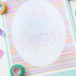 It's Important to Be Nice Printable