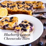Blueberry Lemon Cheesecake Bars + Reverse Care Package