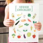 Kids Printable Vegetable Checklist