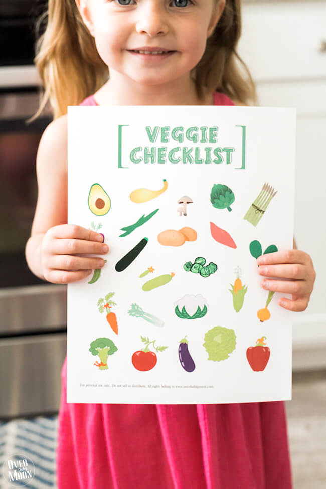 A perfect way to get your kids to eat more vegetables, this kids printable vegetable checklist will make life easier!