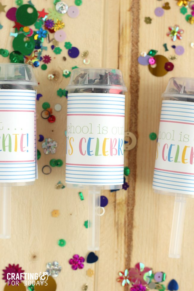 Confetti Party Poppers that are perfect for when school gets out! from CraftingE via thirtyhandmadedays.com