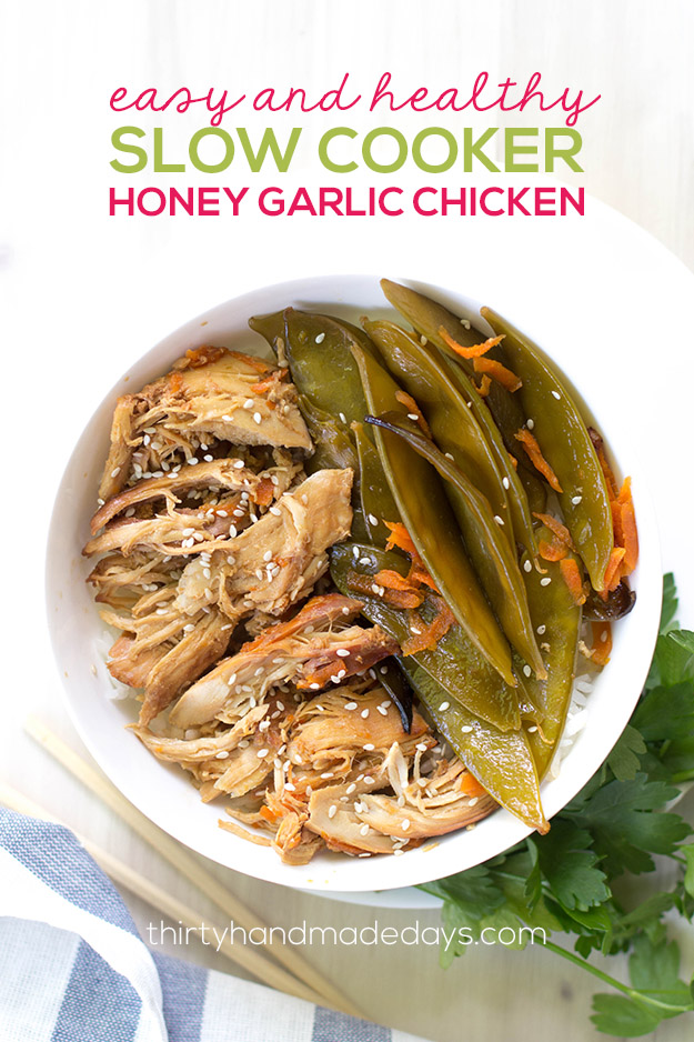 Easy and Healthy Slow Cooker Honey Garlic Chicken