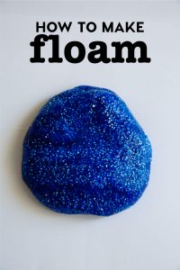 How to make floam - a floam recipe to try out for a fun kids activity! from www.thirtyhandmadedays.com