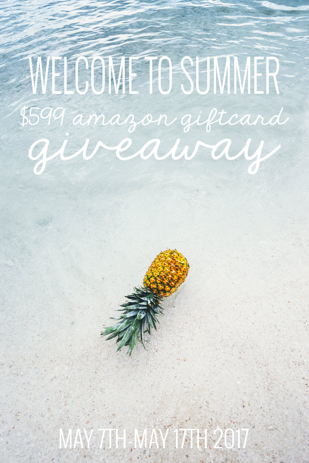 $599 Amazon Gift Card Giveaway to kick off summer