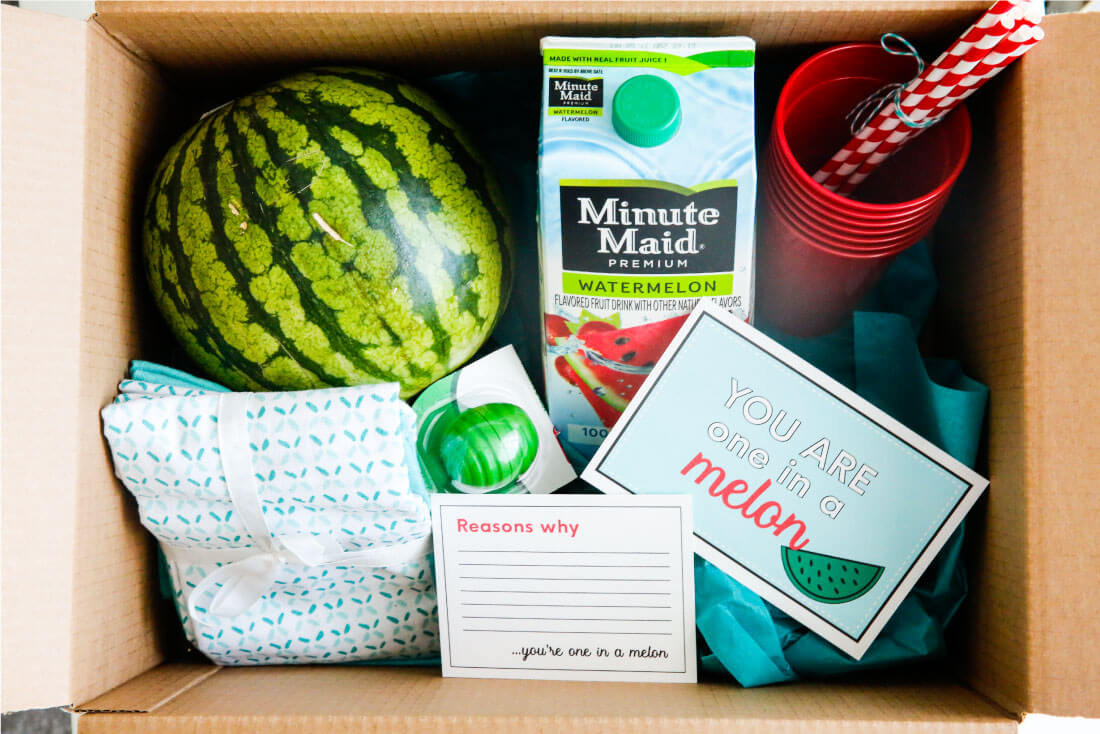 Make a reverse care package to let someone in your life know that they're #doingood. via www.thirtyhandmadedays.com