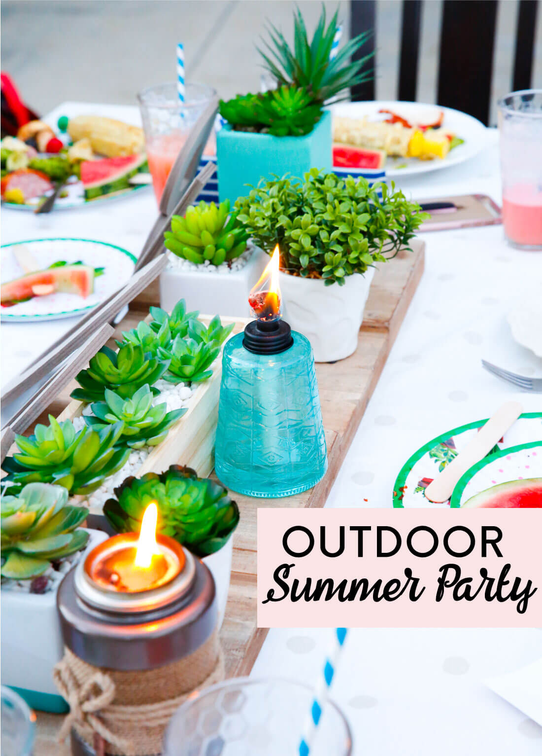 Outdoor Summer Party - such a fun way to celebrate school getting out! www.thirtyhandmadedays.com