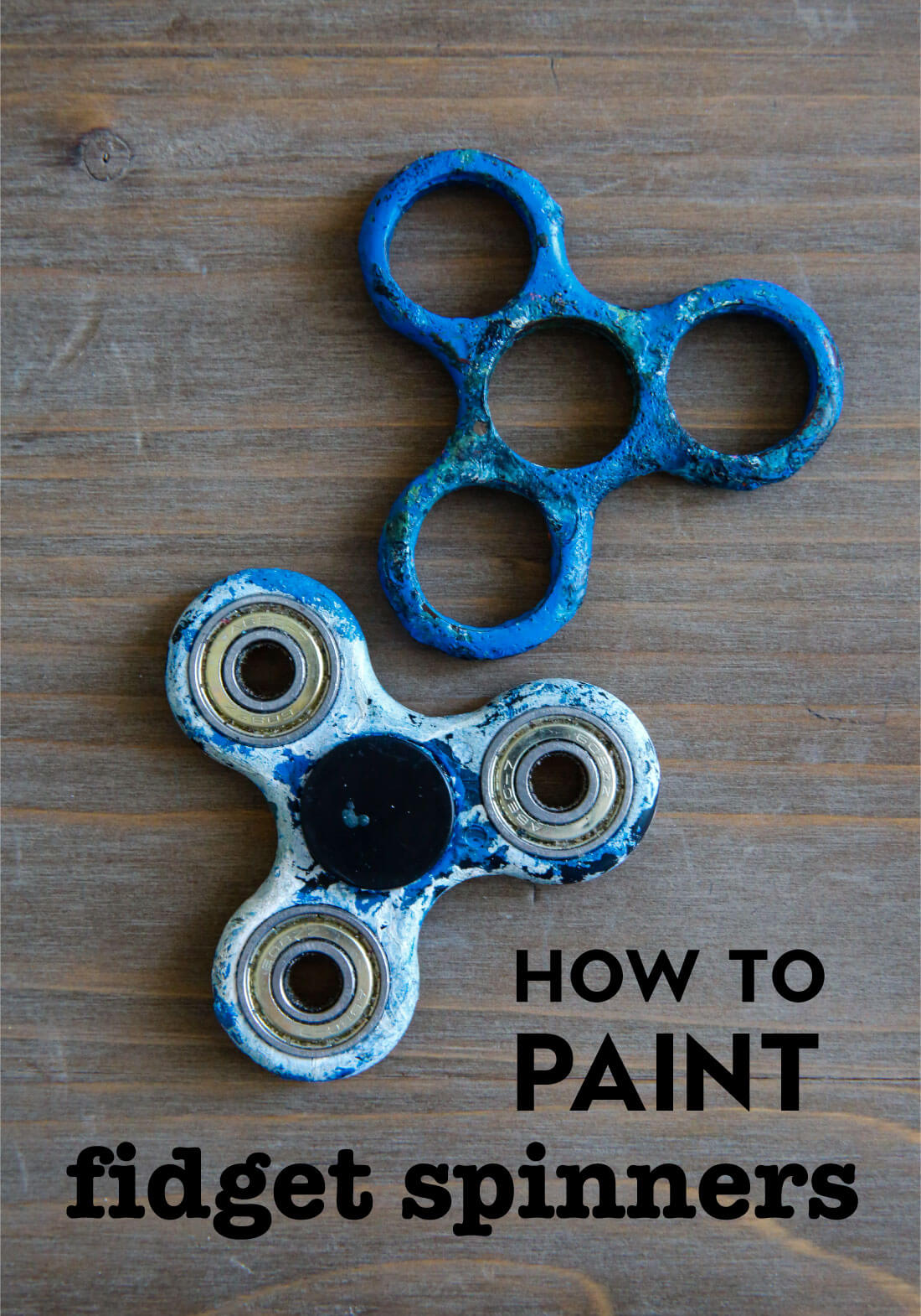 How to Paint a Fidget Spinner- a fun activity to do with your kids! www.thirtyhandmadedays.com