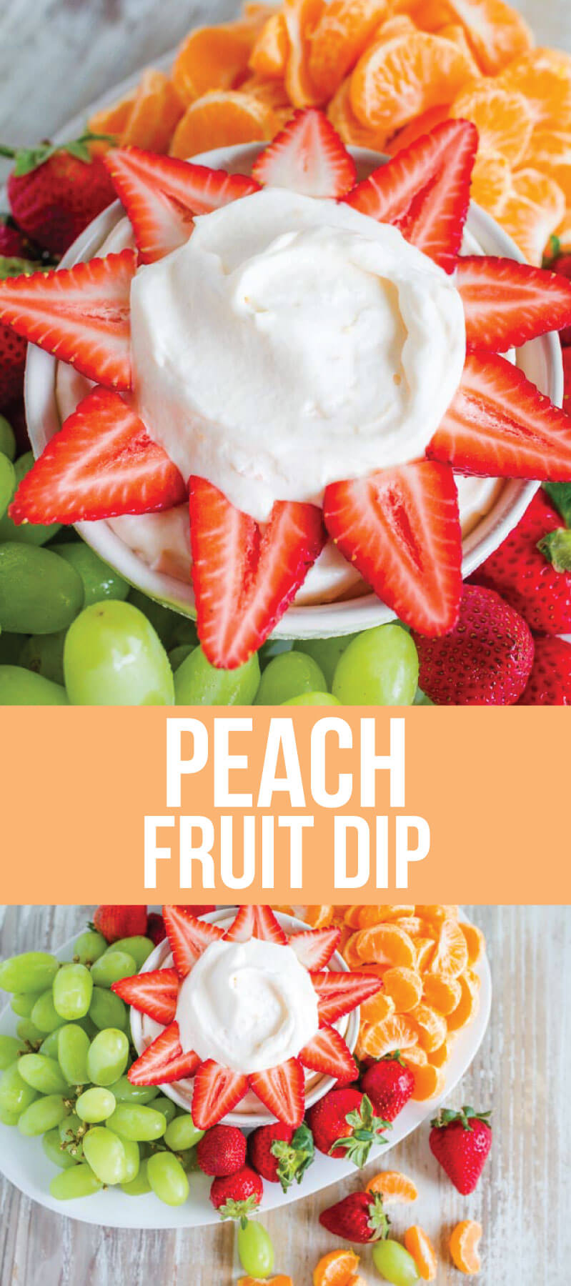 Food: 3 Ingredient Peach Fruit Dip is easy to make and absolutely delicious! From www.thirtyhandmadedays.com