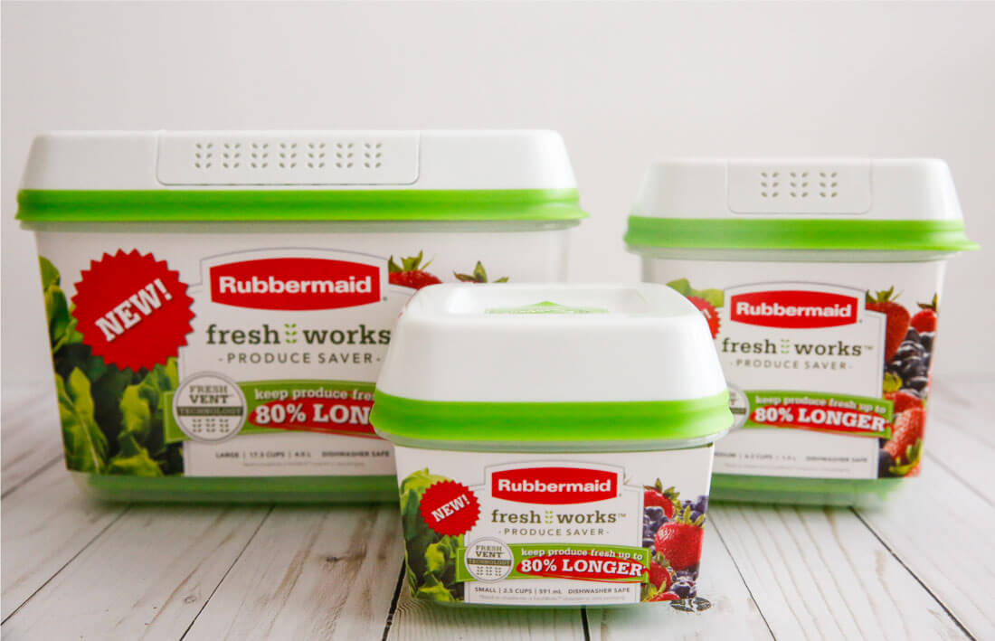 Use the new Rubbermaid FreshWorks ™ Produce Saver to help keep your produce fresher, longer!