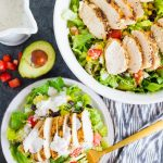 Santa Fe Chicken Salad - a simple, refreshing salad recipe that's perfect for summer! via www.thirtyhandmadedays.com