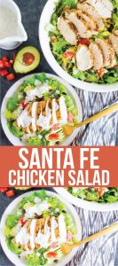 Santa Fe Chicken Salad - a simple, refreshing salad recipe that's perfect for summer! from www.thirtyhandmade.days.com