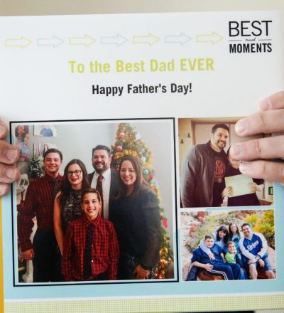 Father's Day Gift Idea with printable tags - use this service from Shutterfly to create a one of a kind photo album for dad from thirtyhandmadedays.com