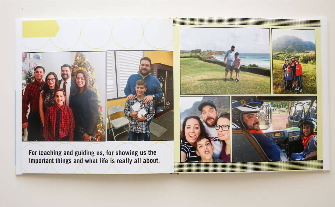 Father's Day Gift Idea with printable tags - use this service from Shutterfly to create a one of a kind photo album for dad. (pages)