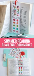 Printable Summer Reading Challenge Bookmarks - use these bookmarks to encourage reading this summer! from www.thirthyhandmadedays.com