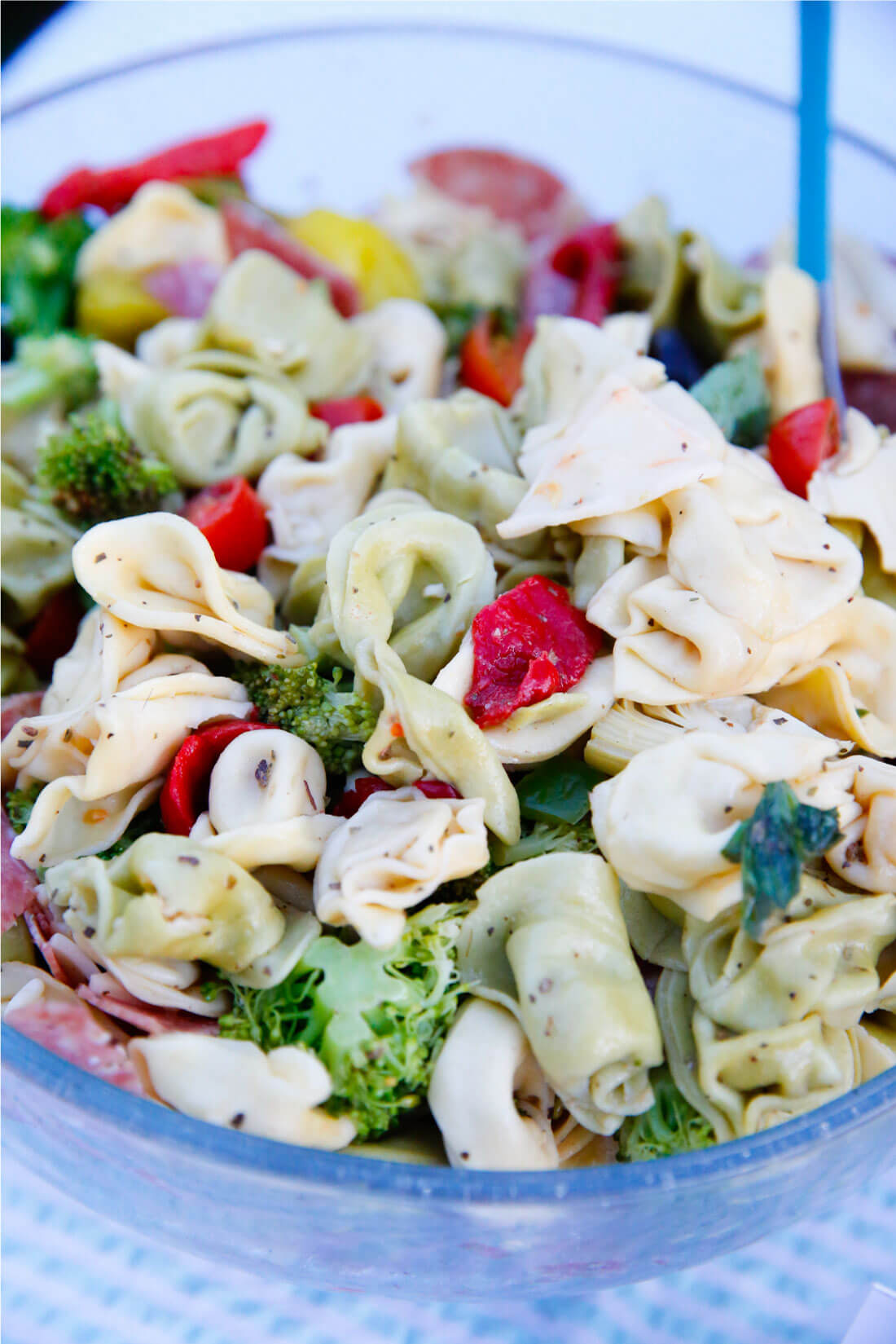 Italian Tortellini Salad for a summer party - so delicious! from www.thirtyhandmadedays.com
