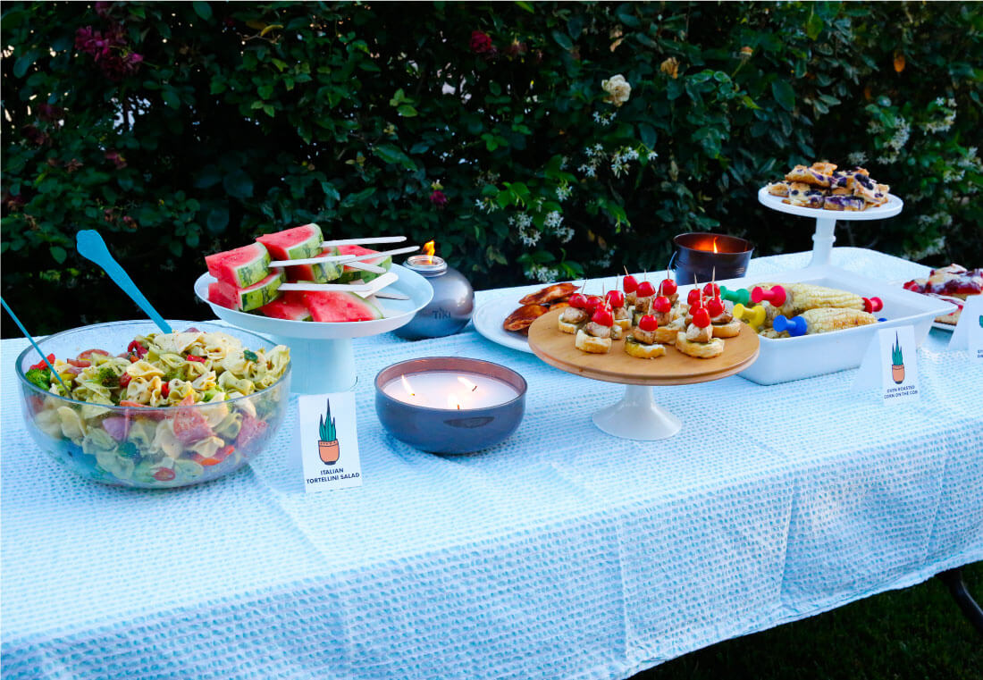 All of the food at our summer party